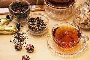 Diffferent tea set