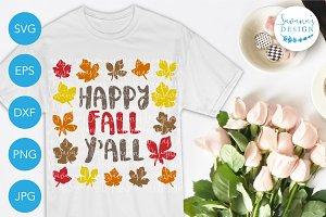 Happy Fall Y'all SVG