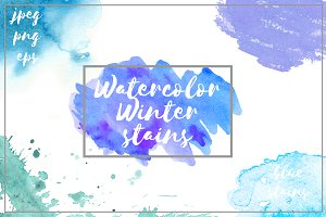 Watercolor Winter Stains