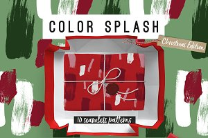 Color Splash Patterns - Xmas Edition