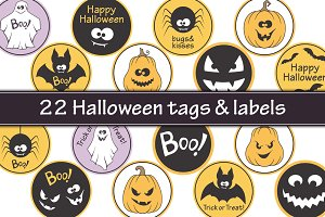 Halloween labels and tags bundle