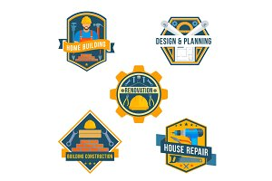 Work tools vector icons for house repair design