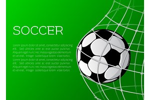 Vector poster template for soccer championship