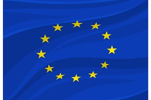 European Union flag. Vector Europe national symbol