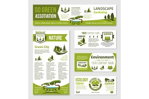 Vector templates for green eco environment company