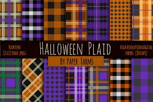 Halloween plaid backgrounds