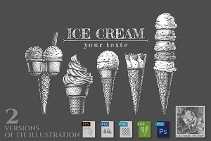 Set of ice-creams