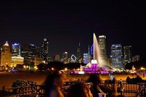 Chicago skyline panorama.