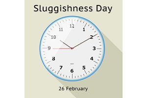 Sluggishness day vector