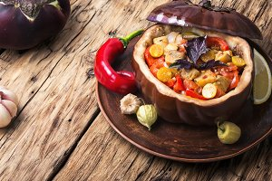 eggplant baked with vegetables