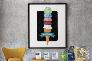 ice cream tower