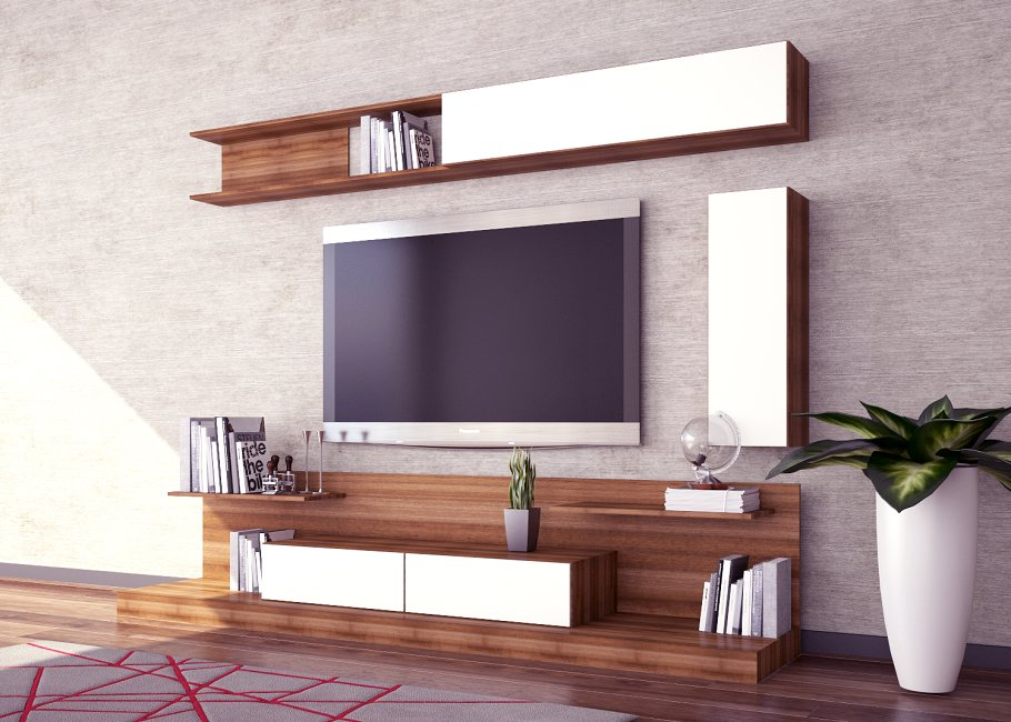 Modern Tv-Unit Design 3D Model