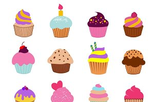 Cupcakes illustration vector