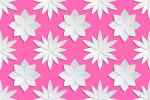Origami vector floral pattern