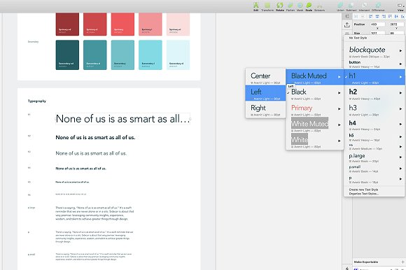 Sketch Starter Template Website Templates Creative Market