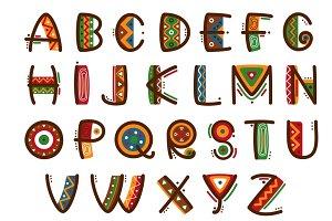African ethnic primitive font