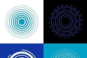 Blue circle signal waves