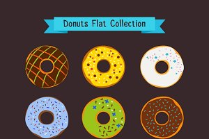 Donut and coffee shop icons