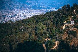 City Of Pokhara From Peace Pagoda