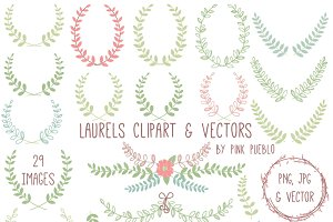 Laurel Clipart and Vectors