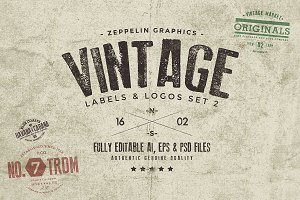 Vintage Badges & Labels Set 2