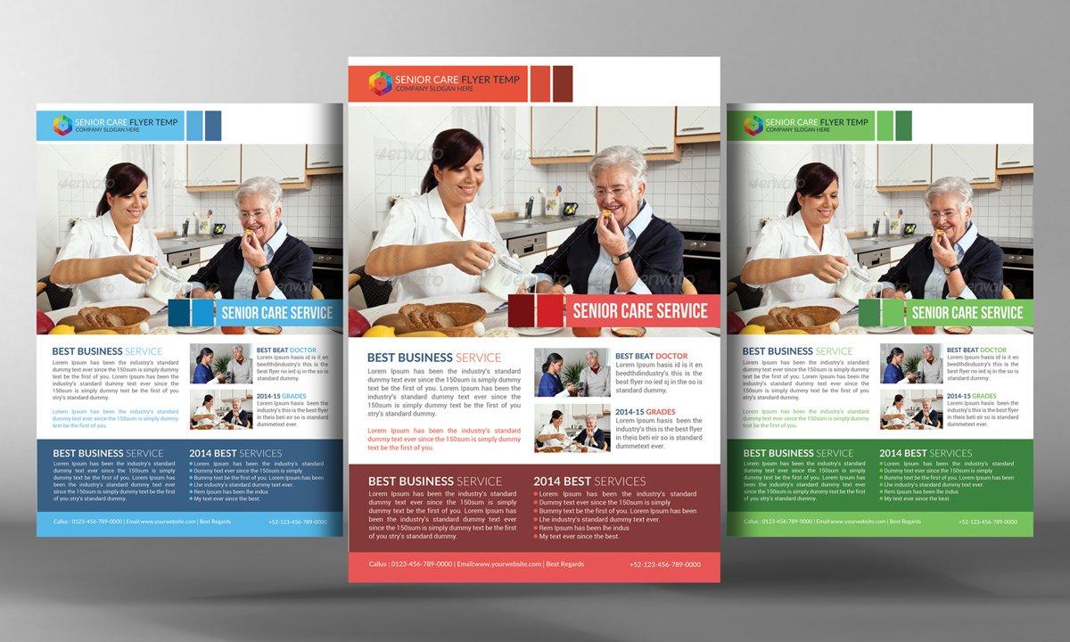 senior care flyer template flyer templates on creative market
