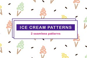 Ice cream pattern bundle