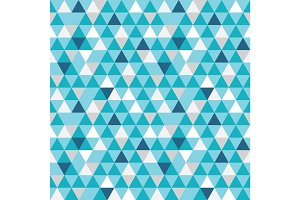 Vector blue and grey triangles texture seamless repeat pattern background. Perfect for modern fabric, wallpaper, wrapping, stationery, home decor projects.