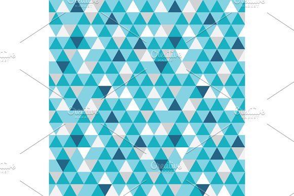 Vector Blue And Grey Triangles Texture Seamless Repeat Pattern Background Perfect For Modern Fabric
