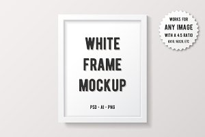 Simple White Frame Mockup