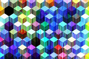 Geometric Pattern with Glitch