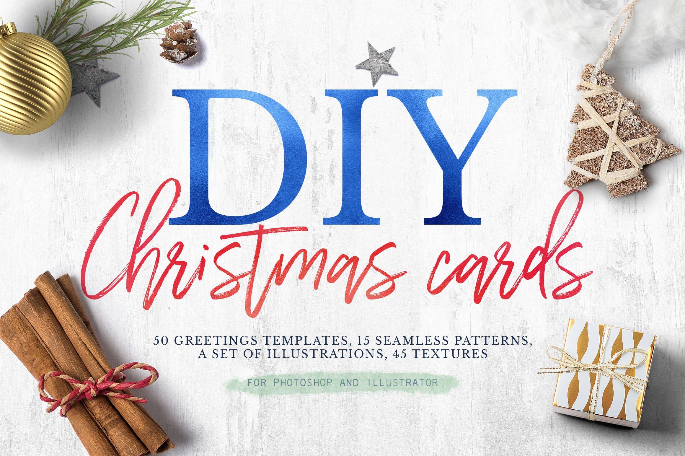 Christmas Greetings 2017 Card Templates Creative Market