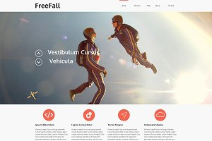 Freefall - Onepage PSD Template