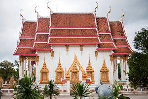 Buddhist island beautiful temple