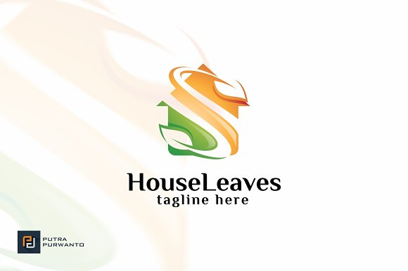 House Leaves Logo Template