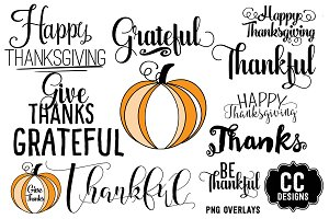Give Thanksgiving Word Text Graphics