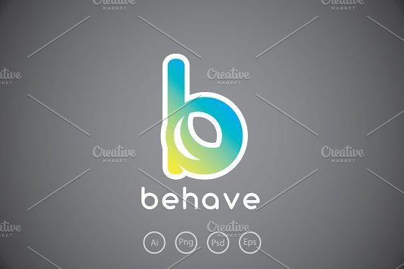 Behave Letter B Logo Template