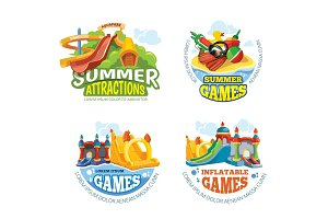Vector illustration of summer labels