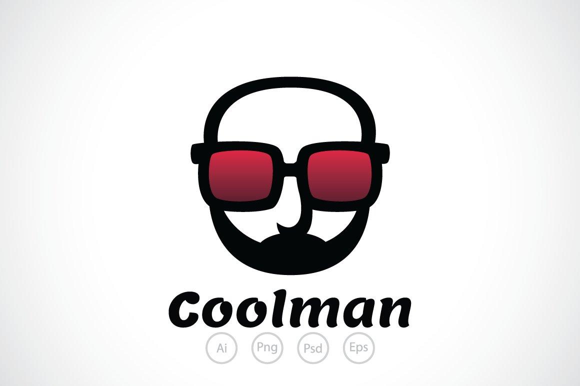 Cool Man Glasses Logo Template Logo Templates Creative Market