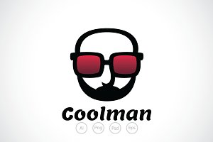 Cool man Glasses Logo Template