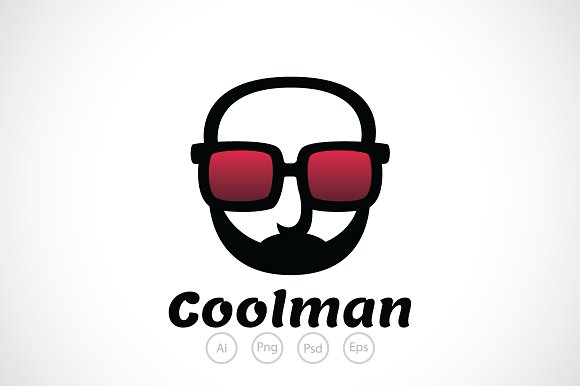 cool man glasses logo template logo templates creative market