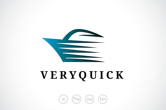 Very Quick Shipping Logo Template