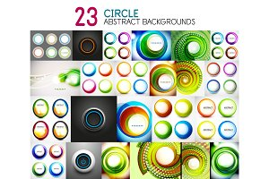 Vector mega collection of circle geometric backgrounds and banners for your text