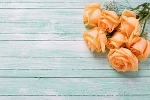 Peach color roses flowers