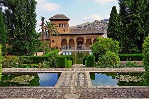 Partal Garden in Alhambra, Granada