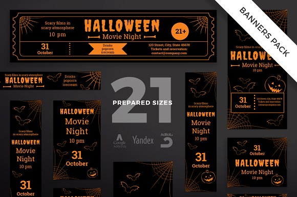 Banners Pack Halloween