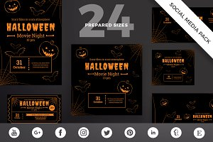 Social Media Pack   Halloween