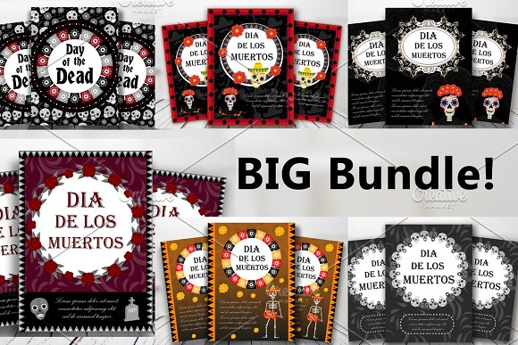Day Of The Dead Templates BUNDLE