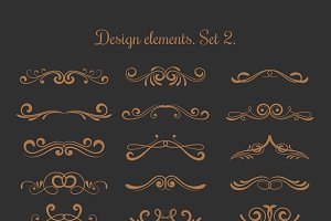 Flourish vector embellishments