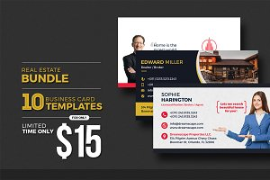 10 Real Estate Business Card Bundle